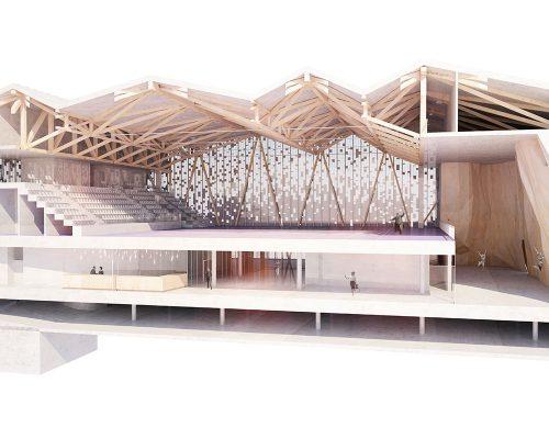 Maquette projet Danton au Havre