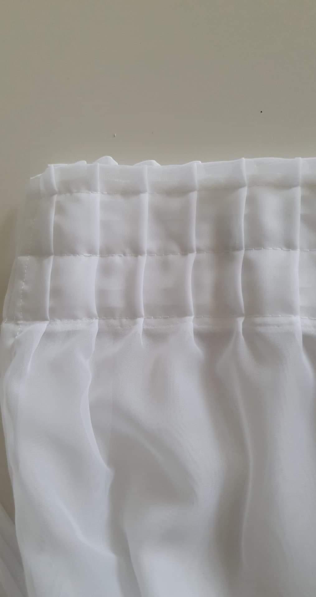 Confection rideau plissé - pré-plissé