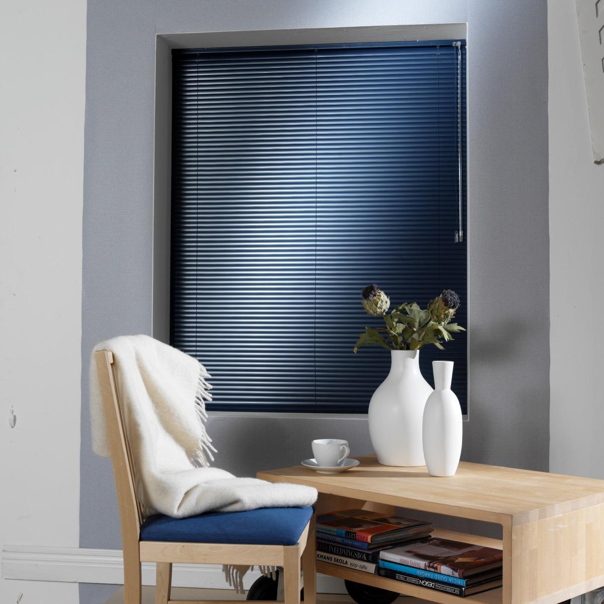 Vénitien sur-mesure aluminium 16 mm bleu