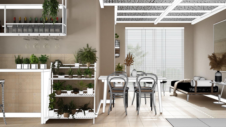 Store vénitien bois 25 mm salon